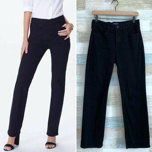 NYDJ Marilyn Straight Leg Jeans Black High Rise